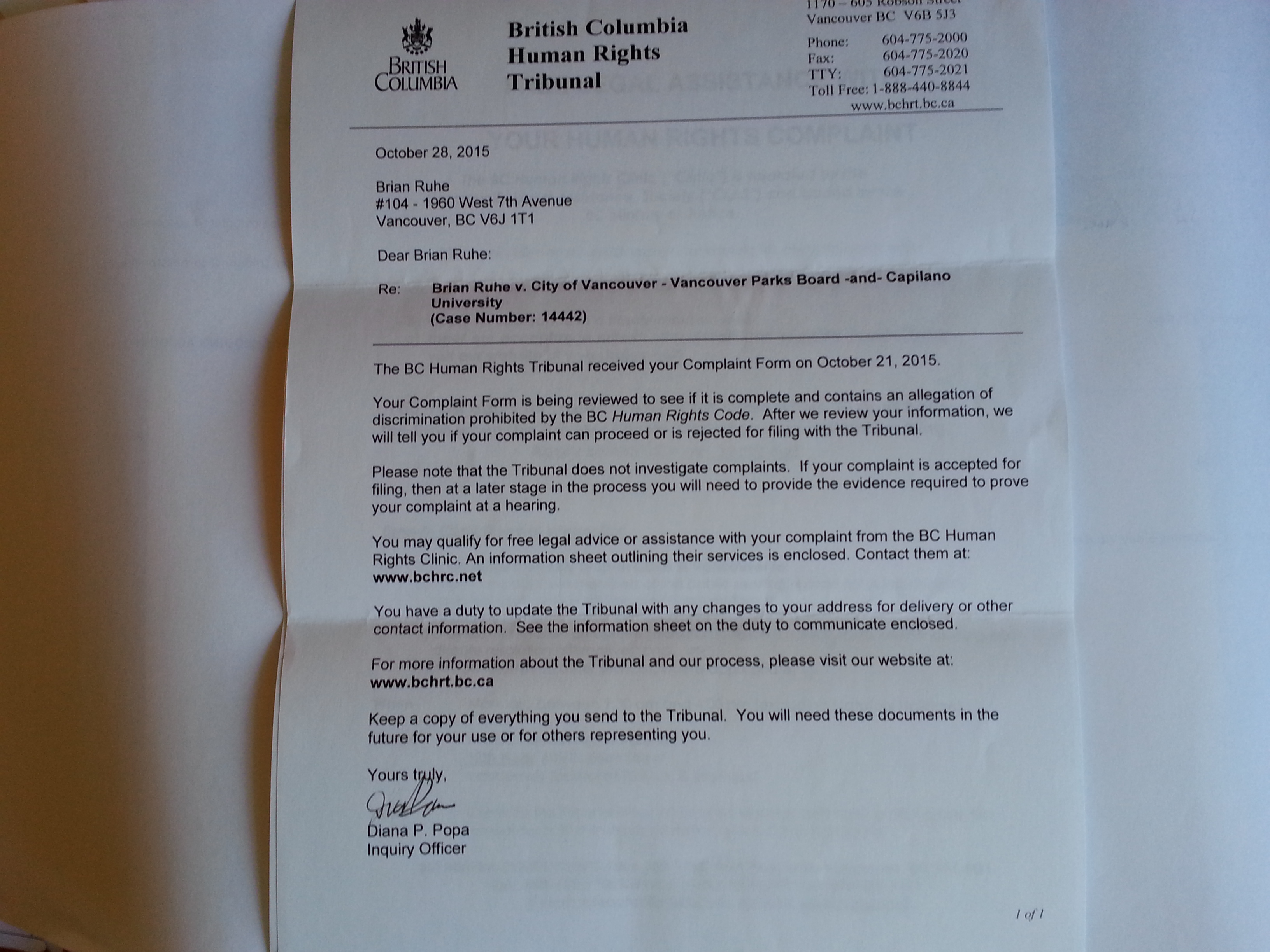 20160920_tribunal-first-letter-oct-28